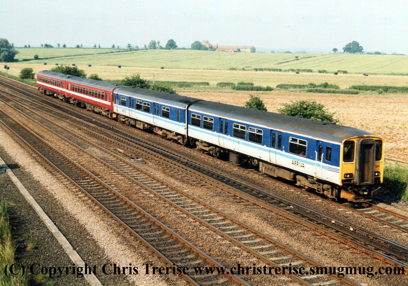 Class 150 and Class 153 DMUs at Colton South Junction