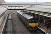Class 153 Single Car Sprinter DMU Set number 153 369 with Class 150/1 2 Car Sprinter DMU Set number 150 127 arrives at Exeter St Davids with 2C45 1018 Exeter St Davids to Penzance.<br /> 24th August 2017