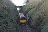 Class 150 2 Car Sprinter DMU Set number 150 104 passes Treluswell working 2F81 1412 Truro to Falmouth Docks.<br /> 2nd November 2014