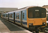 Class 150/1 2 Car Sprinter DMU Set number 150138 at Cleethorpes with the 1509 to Birmingham New Street.<br /> 13th May 1989