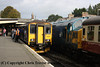 Class 150 2 Car Sprinter DMU number 150 263 at Bodmin General with the 1010 from Bodmin Parkway.  This was the first public working of a Sprinter DMU from Bodmin Parkway.<br /> 29th September 2012