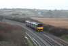 Class 150/1 2 Car Sprinter DMU Set number 150 101 passes Marazion with 2A06 0815 St Ives to Penzance.<br /> 20th December 2014