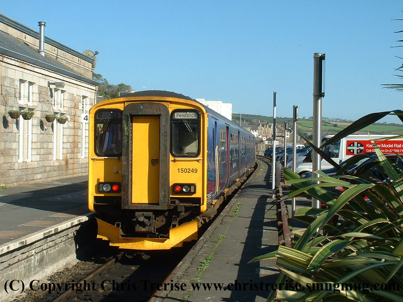 Class 150 2 Car DMU number 150 249 a Penzance.<br /> 23rd October 2007