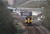 Class 150/2 2 Car Sprinter DMU number 150 232 passes Burngullow with the 0524 Bristol Temple Meads to Penzance.<br /> 8th March 2012