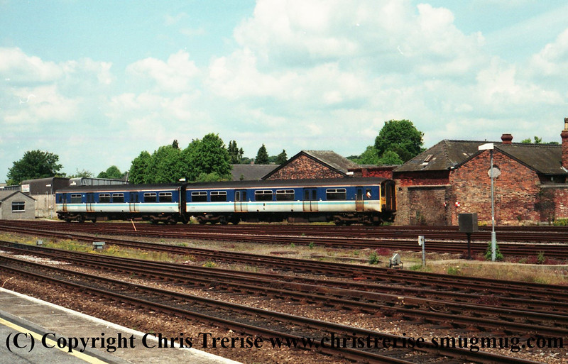 Class 150 2 Car DMU Set number 150 238 is seen at Salisbury.<br /> 30th May 2000