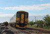 Class 150/1 2 Car Sprinter DMU Set number 150 106 with Class 153 Single Car Sprinter DMU Set number 153 380 at the rear pass Cockwood Harbour with 2C67 0800 Cardiff Central to Paignton.<br /> 21st August 2017