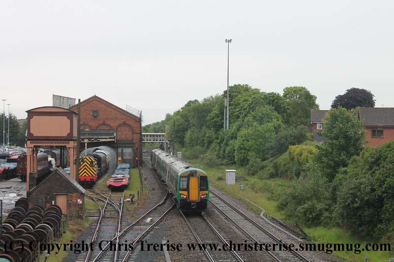 Class 172 3 Car DMU Set number 172 339 with 2 Car Set number 172 213 at the rear approach Kidderminster with 5C14 0844 Kidderminster to Kidderminster empty stock working.<br /> 19th May 2017