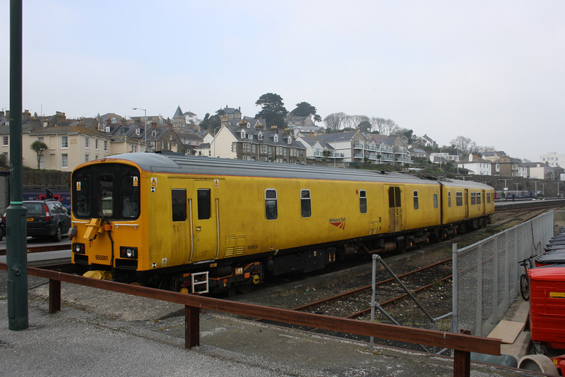 Class 950 2 Car DMU number 950 001 at Penzance.<br /> 14th March 2012