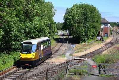 139001 working 2P08 1035 Stourbridge Town to Stourbridge Junction on 13 June 2021, Class139, WMR, StourbridgeTownbranchline
