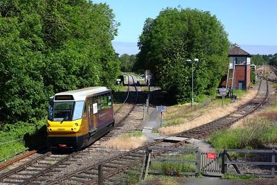 139001 working 2P04 1005 Stourbridge Town to Stourbridge junction arriving at Stourbridge junction on 13 June 2021  Class139, WMR, StourbridgeTownBranchLine,