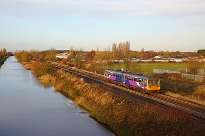 142015 on the 2P05 0844 Doncaster to Scunthorpe at Crowle on the 30th November 2018