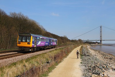 142027 on the 2R08 1503 Hull to York at Hessle on the 8th April 2015