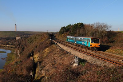 143624 on the 2F28 1142 Bridgend to Cardiff Central at Font-y-Gary, Aber