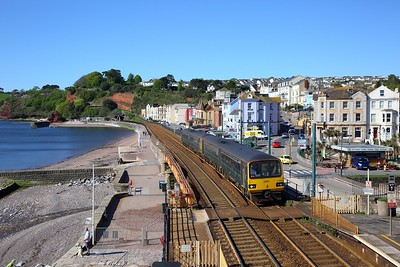 143603+143611 on the 2F17 0904 Paignton to Exmouth at Dawlish on the 11th May 2019