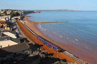 150265 on the 2T23 1653 Exmouth to Paignton at Dawlish on the 17th June 2017