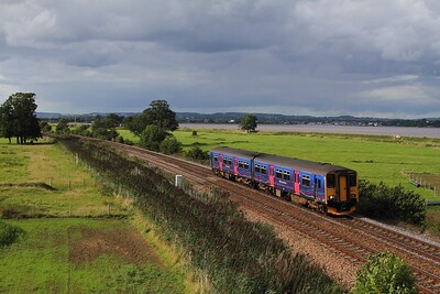 150239 on the 2T22 1553 Exmouth to Paignton at Powderham on the 28th August 2015