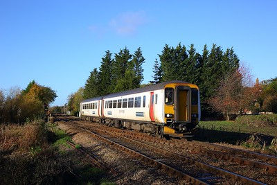 156412 on the 2S12 0945 Norwich to Sheringham at Whitlingham junction on the 13th November 2018
