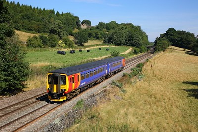 156410 on the 2A31 1048 Matlock to Derby at Chevin, Milford on the 5th August 2018