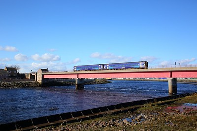 158705 on the 2H84 1346 Kyle of Lochalsh to Inverness at Ness Bridge, Inverness on the 31st March 2018
