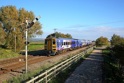 158794+158850 on the 2R94 1409 Hull to York at Crabley Creek on the 20th October 2018