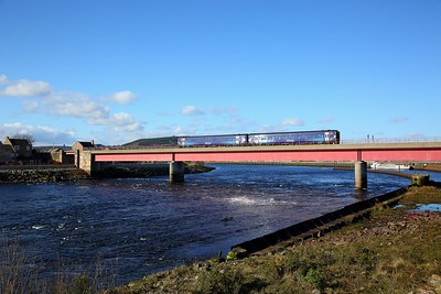 158719 on the 2H72 1551 Invergordon to Inverness at Ness bridge, Inverness on the 31st March 2018