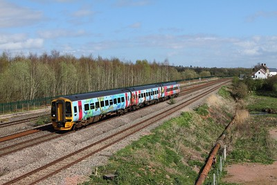 158798 on the 1F14 1023 Portsmouth Harbour to Cardiff Central at Undy on the 31st March 2017