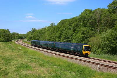 165110 working 2T14 1157 Bedwyn to Newbury at Hungerford on 16 June 2021  Class165, GWR, BandH