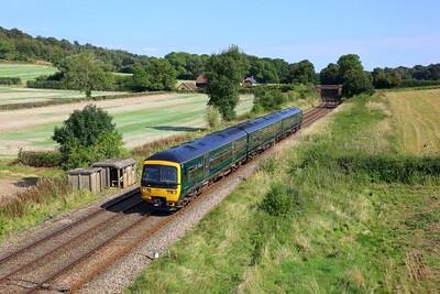 165101 working 1V50 1344 Redhill to Guildford at Hackhurst Farm, Abinger Hammer on 18 September 2021  Class165, GWR, NorthDownsLine
