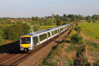 168329+168xxx+168109 on the 1G52 London Marylebone to Birmingham Snow Hill at Kings Sutton on the 10th May 2017