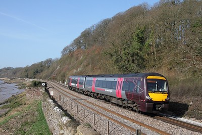 170112 working 1M60 0945 Cardiff Central to Nottingham at Gatcombe on 29 March 2012  Class170, XC, LydneyLine