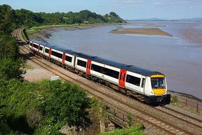 170208 working 2G57 1610 Cheltenham Spa to Maesteg at Purton on 13 June 2021  Class170, GloucesterNewportLine, TFW
