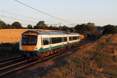170271 on the 2W01 0531 Bury St Edmunds to Ipswich at Baylham on the 4th August 2015