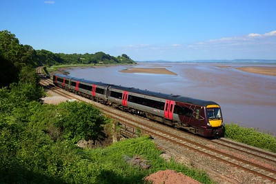 170110 working 1V07 1416 Nottingham to Cardiff Central at Purton on 13 June 2021  Class170, CrossCountry, GloucesterNewportLine, LydneyLine