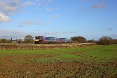 170108 on 1V08 1107 Nottingham to Cardiff Central at Highnam on 15 September 2020  Class170, XC, GloucesterNewportline
