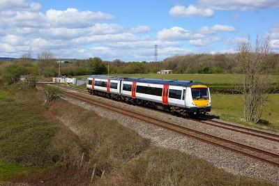170272 working 2G62 1415 Maesteg to Cheltenham at Pontsarn on 6 May 2021  TFW, Class170, SouthWalesMainline
