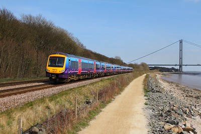 170307 leads 2 other 170s on the 1K19 1439 Hull to Manchester Piccadilly at Hessle on the 8th April 2015
