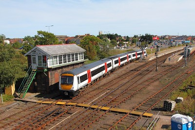 170208 on the 2C23 1517 Great Yarmouth to Norwich departing Great Yarmouth on the 28th August 2017 1