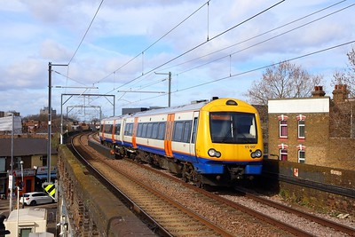 172007 on the J43 1136 Gospel Oak to Barking at Leyton Midland Road on the 4th March 2019