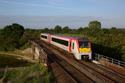 Transport for Wales TFW 175002 leads the 1V99 1830 Manchester Piccadilly to Carmarthen at Edleston, Nantwich on the marches on 27 May 2020