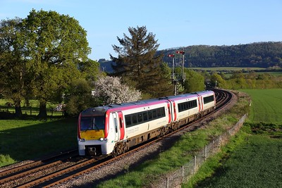 175107 working 1W72 1507 Milford Haven to Manchester Piccadilly at Cheney Longville, Craven Arms on 19 May 2021  Class175, TFW, TheMarches