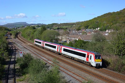 175104 working 1W72 1507 Milford Haven to Manchester Piccadilly at Briton Ferry on 6 May 2021  Class175, TFW, SouthWalesMainline