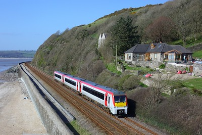 175104 working 1W71 Milford Haven to Manchester Piccadilly at St Ishmael on 3 April 2021  Class175, TFW, WestWalesline