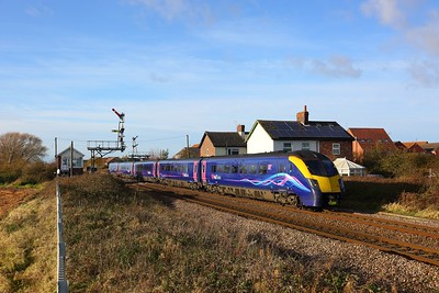 180113 on the 1H02 London Kings Cross to Hull at Welton, Brough on the 25th November 2017