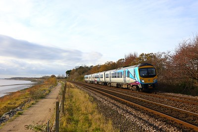 185140 on the 1K12 1141 Manchester Piccadilly to Hull at Hessle on the 18th November 2017