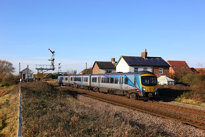 185141 on the 1K10 Manchester Piccadilly to Hull at Welton, Brough on the 25th November 2017
