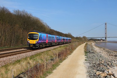 185127 on the 1K21 1539 Hull to Manchester Piccadilly at Hessle on the 8th April 2015