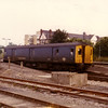 Parcels Bubble Car 55991 passes Iver on 8th July 1983