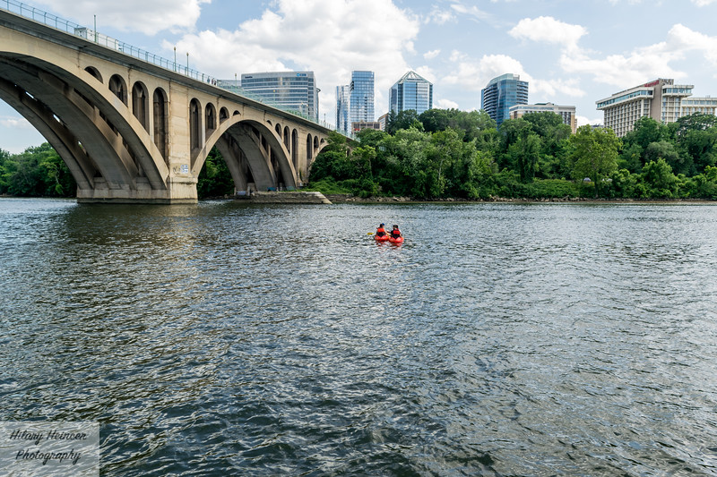 Kayakers on the Potomac