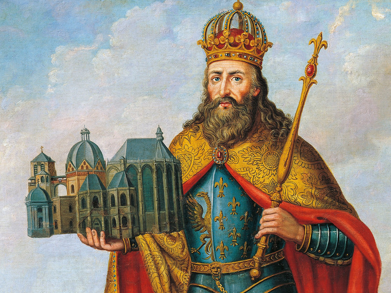 Holy Roman Emperor Charlemagne  (747-814)