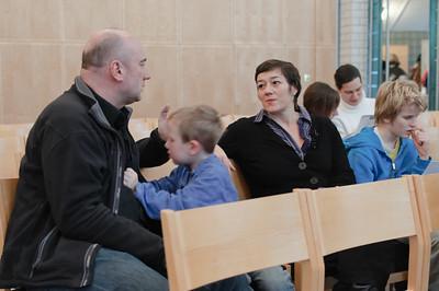 Die Kirche war dieses Jahr zwar nicht ganz so voll wie letztes Jahr, aber es waren trotzdem fast 60 Teilnehmer.